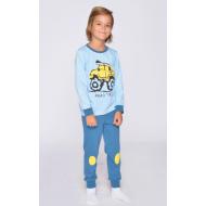 20-1548-3 Пижама для мальчика, 3-7 лет, голубой