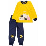 20-15482-4 Пижама для девочки, 3-7 лет, желтый