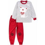 20-15482-5 Пижама для девочки, 3-7 лет, меланж
