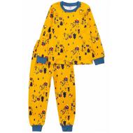 20-15491-2 Пижама для мальчика, 2-5 лет, горчичный