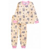 20-1549-5 Пижама для девочки, 2-5 лет, молочный