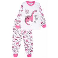 20-976-1 Пижама для девочки, 3-7 лет, белый