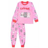 20-976-3 Пижама для девочки, 3-7 лет, розовый
