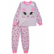 20-976-5 Пижама для девочки, 3-7 лет, меланж