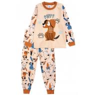 20-977-1 Пижама для мальчика, 3-7 лет, бежевый
