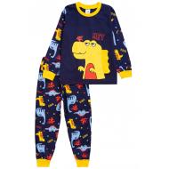 20-977-2 Пижама для мальчика, 3-7 лет, т-синий
