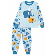 20-977-4 Пижама для мальчика, 3-7 лет, голубой