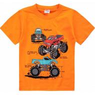 20-002101 Футболка для мальчика, 4-8 лет, оранжевый