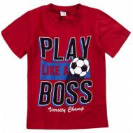 20-002107 Футболка для мальчика, 4-8 лет, марсала