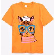20-002204 Футболка для девочки, 4-8 лет, оранжевый