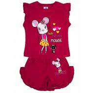 20-004203 Костюм для девочки, 1-4 года, т-красный