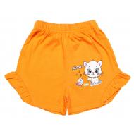 20-1010201 Шорты для девочек, 1-5 лет, оранжевый