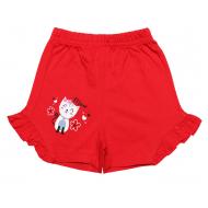 20-1010205 Шорты для девочек, 1-5 лет, красный