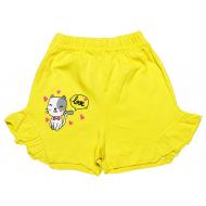 20-1010206 Шорты для девочек, 1-5 лет, желтый