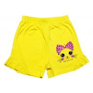 20-102209 Шорты для девочки, 4-8 лет, желтый