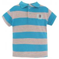 20-10561 Футболка-поло для мальчика, пике, 3-7 лет, голубой