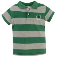 20-10563 Футболка-поло для мальчика, пике, 3-7 лет, зеленый