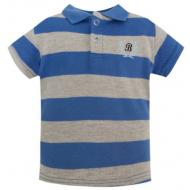 20-10564 Футболка-поло для мальчика, пике, 3-7 лет, синий