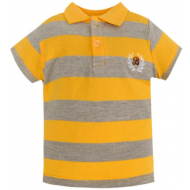 20-10565 Футболка-поло для мальчика, пике, 3-7 лет, желтый