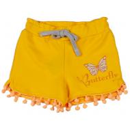 20-10653 Шорты для девочки из футера, 3-7 лет, желтый