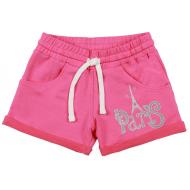 20-10662 Шорты для девочки из футера, 8-12 лет, розовый