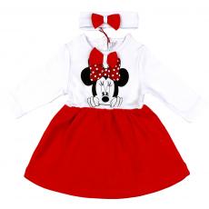 """20-10732 """"Минни"""" Платье с повязкой для малышки, 68-86, красный"""