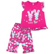 20-12162 Пижама для девочки, 3-7 лет, малиновый