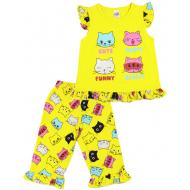 20-12163 Пижама для девочки, 3-7 лет, желтый