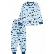 20-135411 Пижама для мальчика, 7-11 лет, голубой