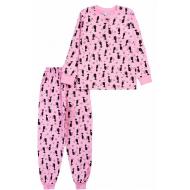20-135421 Пижама для девочки, 7-11 лет, розовый