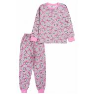 20-135422 Пижама для девочки, 7-11 лет, меланж