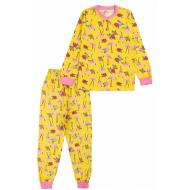 20-135423 Пижама для девочки, 7-11 лет, лимонный