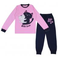 20-1395201 Пижама для девочки, 9-12 лет, розовый
