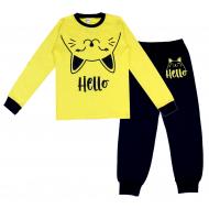 20-1395202 Пижама для девочки, 9-12 лет, лимонный