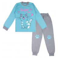20-1395204 Пижама для девочки, 9-12 лет, голубой