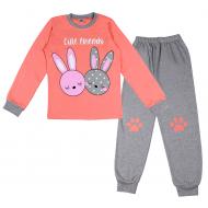 20-1395205 Пижама для девочки, 9-12 лет, персиковый