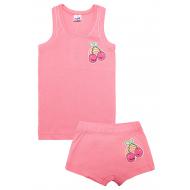 20-14681 Комплект майка трусы для девочки, рибана, 2-6 лет, розовый