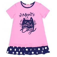 20-14763 Платье для девочки, 5-8 лет, розовый