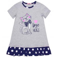 20-14764 Платье для девочки, 5-8 лет, меланж