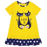 20-14765 Платье для девочки, 5-8 лет, желтый