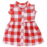 20-2801P Платье для девочки, 1-4 года, красный