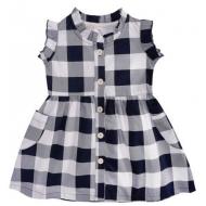 20-2803P Платье для девочки, 1-4 года, т-синий