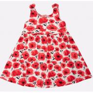 20-50382 Платье для девочки, 3-7 лет, красный