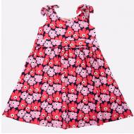 20-50383Платье для девочки, 3-7 лет, т-сини