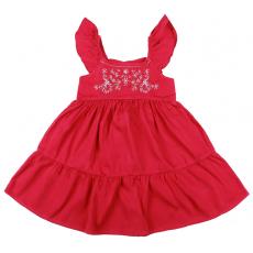 20-8861 Платье для девочки из сатина, 3-7 лет, малиновый