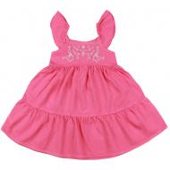 20-8863 Платье для девочки из сатина, 3-7 лет, розовый