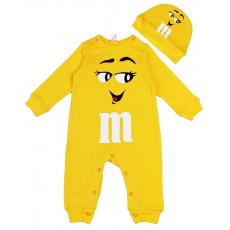 """45-10021 """"M&M'S Комбинезон с шапочкой, 68-86, желтый"""