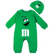 """45-10024 """"M&M'S Комбинезон с шапочкой, 68-86, зеленый"""
