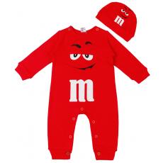 """45-10028 """"M&M'S Комбинезон с шапочкой, 68-86, красный"""