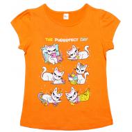 45-8120209 Футболка для девочки, 8-12 лет, оранжевый